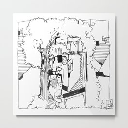 Out In The Woods Metal Print