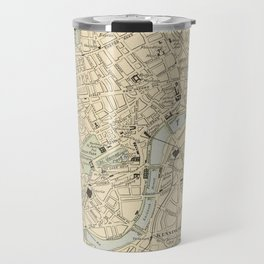 Vintage Map of London England (1901) Travel Mug