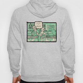 Record Store Poster Print  Hoody