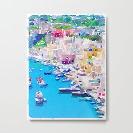 Mediterranean Harbour Metal Print