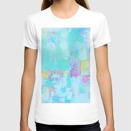 Turquoise, Blue Abstract Work T-shirt
