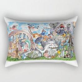 Ghibli Compilation Rectangular Pillow