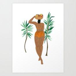 Fruit Basket Gal Art Print