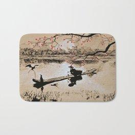 Bird Fishing Bath Mat