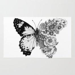 Butterfly in Bloom Rug