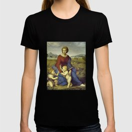 Madonna of the Meadows by Raphael T-shirt