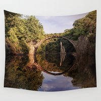 geology Wall Tapestries featuring Mystical stone arch by UtArt