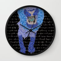 leon Wall Clocks featuring Leon by Katarina Pavlovic
