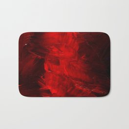 Red Abstract Paint Bath Mat