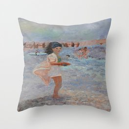 Mexican Bobbie (Mom at The Beach) Throw Pillow