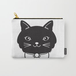 Dapper Black Kitty Cat Carry-All Pouch