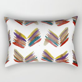 Simple Abstract Leafs Rectangular Pillow