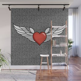 Winged Heart Wall Mural