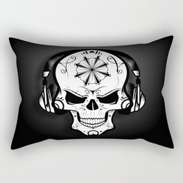 DJ Skull Rectangular Pillow