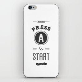 Press A to Start iPhone Skin