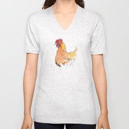 Watchful chicken Unisex V-Neck