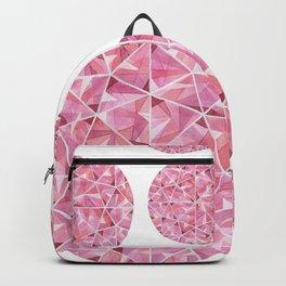 Red Round Gem Pattern Backpack