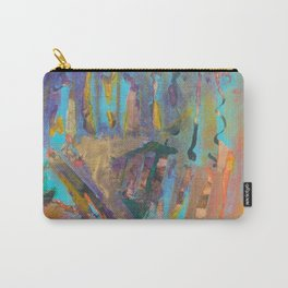 Abstract Landscape Colorful Mixed Media Painting by Garden Of Delights Carry-All Pouch