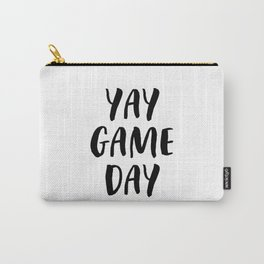 Yay Game Day Football Sports Black Text Carry-All Pouch