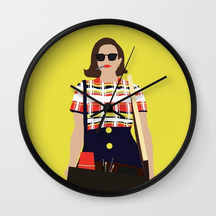 Peggy Olson Mad Men Wall Clock by thefilmartist | Society6