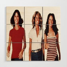 Charlies angels Wood Wall Art