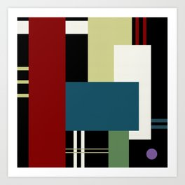 GEOMETRIC ABSTRACT Art Print