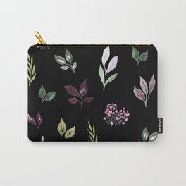 Tiny watercolor leaves pattern Carry-All Pouch