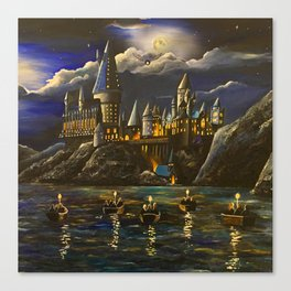 Hogwarts at Starry night Canvas Print
