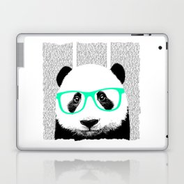 Panda with teal glasses Laptop & iPad Skin