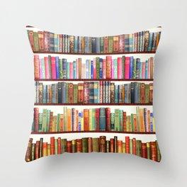 Jane Austen Vintage Book collection Throw Pillow