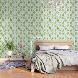 Airy Floral Pattern Wallpaper