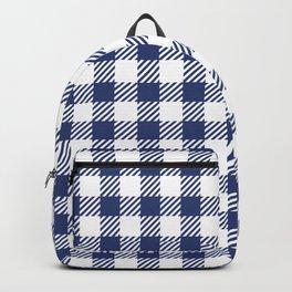 Blue Vichy Backpack