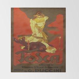 Vintage poster - Tosca Throw Blanket