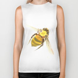 Bee, bee art, bee design Biker Tank