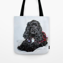 Valentine Puppy Photography Print Tote Bag