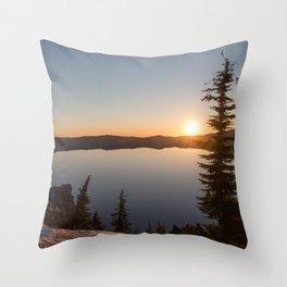 Sunrise at Crater Lake Throw Pillow
