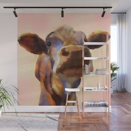 Cora the cow, cow art, cow, farm, animal Wall Mural