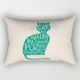 'The Cat That Walked by Himself' Rectangular Pillow