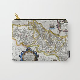 Map of the Kingdom of Portugal by Abraham Ortelius, dated 1560 Carry-All Pouch