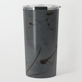 Jackson Pollock Inspired Study In Black - Glam Travel Mug