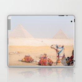 Camel at Pyramids of Giza Egypt Cairo Laptop & iPad Skin