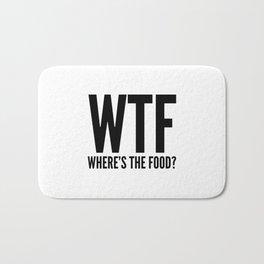 WTF Where's The Food Bath Mat