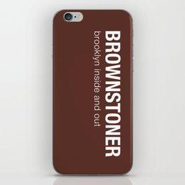 Brownstoner Logo - Dark iPhone Skin