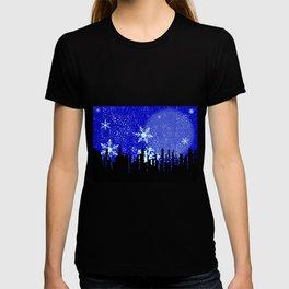 Winter Cityscape Background T-shirt