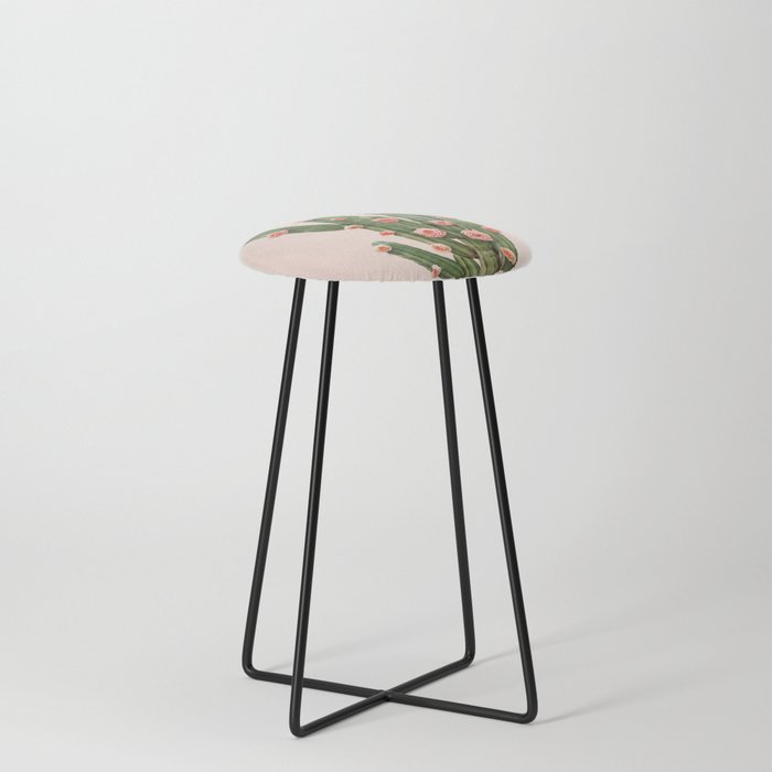 CACTUS AND ROSES Counter Stool