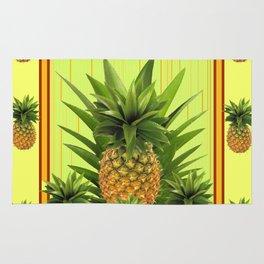 MODERN GREEN-YELLOW  HAWAIIAN PINEAPPLE ART Rug