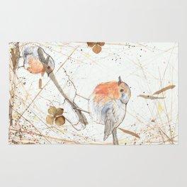 Kleine rote Vögelchen (Little red birdies) Rug
