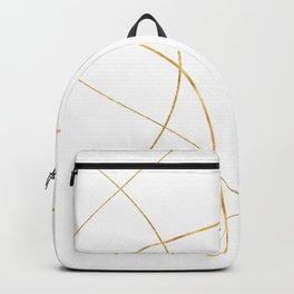 Kintsugi 2 #art #decor #buyart #japanese #gold #white #kirovair #design Backpack