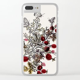 Watercolor floral background Clear iPhone Case