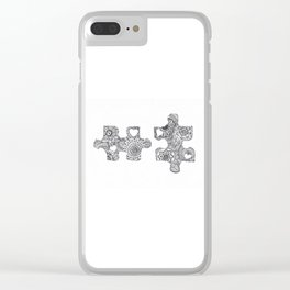Puzzle Pieces Clear iPhone Case